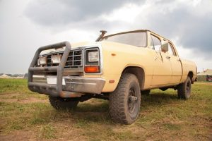 Old yellow 4WD pickup