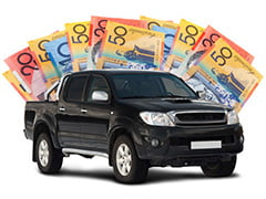 Toyota HiLux being bought for cash