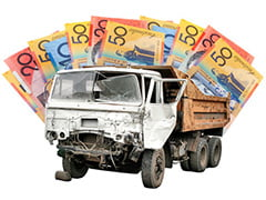 Old truck being bought for cash